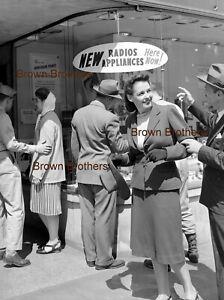 1940s Main Street Store Window Appliance Radio Sign Film Photo Camera Negative