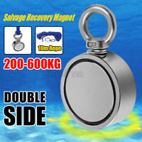 200-600KG Pull Salvage Dual Side Strong Recovery Magnet Fishing Treasure