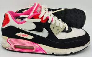 Nike Air Max 90 Suede/Leather Trainers Pink/Black 345017-122 UK5.5/US6Y/EU38.5