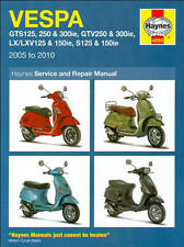 2005-2010 Vespa 125 150 250 300 GTS GTV LX LXV S Scooter REPAIR MANUAL