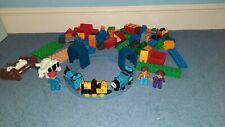 Thomas and friends train set plus bricks figures compatable with duplo