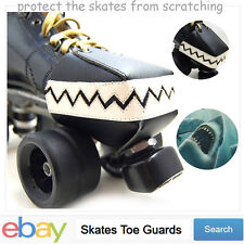 Mans Roller Derby skate toe guards Toe Stops Toe Caps with Chompy Teeth