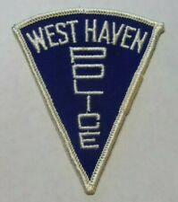 "OLD WEST HAVEN CONNECTICUT POLICE 3"" TRIANGLE PATCH UNUSED"