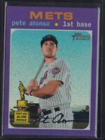 🔥💎 PETE ALONSO 2020 Topps Heritage PURPLE CHROME SP REFRACTOR Mets #THC-457