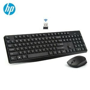 HP CS10 Wireless Keyboard Mouse Combo Gaming Office Mice & Keyboard Set Black &