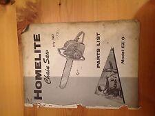 Vintage Homelite Chainsaw Parts List EZ-6