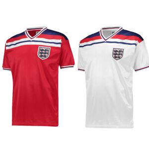 England 1982 World Cup Finals Football Away Retro Shirt Jersey Tee Top Mens