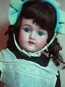 "Beautiful German Doll Handwerck Halbig Bisque Head  # 69 Composition Body 24"""