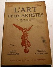 ART DECO/L'ART ET LES ARTISTES/1922/N°25/ART IRLANDAIS/GRAVURES SUR BOIS/MARTEL