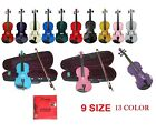 NEW STUDENT VIOLA SET IN RED BLACK WHITE BLUE PINK GREEN PURPLE GOLD SILVER