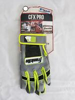 Franklin CFX Pro Baseball Softball Batting Gloves Black Grey Neon Youth Large