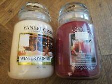 Yankee Candle BRAND NEW 2x Large Jars WINTER FRAGRANCES