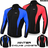 Cycling Jacket Roubix Winter Thermal Fleece Windproof Long Sleeve Bike Coat