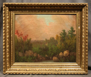 19th Century Oil Painting Landscape attrib. to William Mason Brown (AMERICAN)