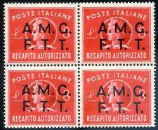 Trieste A 1947 Recapito Autorizzato n. 2 ** quartina (l566)