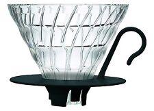 Hario V60 Glass Coffee Dripper (Size 02, Black)