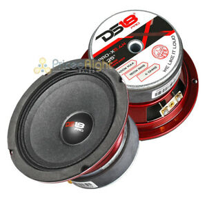 "2 Pack DS18 5.25"" Midrange Speaker 300 Watts Max Power 4 Ohm Car Audio Pro-X5.4M"