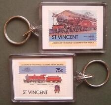 1902 Midland Railway Deeley 1000 4-4-0 Train Stamp Keyring (Loco 100)