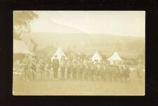 BOY SCOUT Scouting Group of boys camping + bicycles c1920/30s? RP PPC Faults