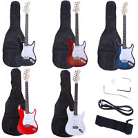 "39.37"" Beginner Sunset Electric Guitar +Bag Case +Cable +Strap +Picks 5 Color"