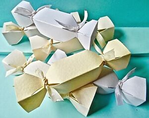 6 SMALL Cracker favour Box Hammer / Pearl Christmas CHECK SIZE MultiBuy Discount