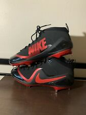 Nike Force Zoom Trout 4 Black & Red Baseball Metal Cleats Sz 11 NEW 917837 066