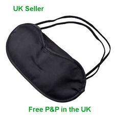 Eye Mask Shade Cover Blindfold Night Blackout Satin Sleep Travel Aid Migraine UK