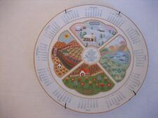 Avon 1987 The Four Seasons Calendar 9 in.R. Ceramic Decorative Plate Pre-Owned