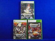 xbox 360 WARRIORS OROCHI x3 1 + 2 + 3 *x Dynasty & Samurai Warriors PAL UK