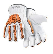 HexArmor Chrome 4060 Leather Safety Gloves with Impact Protection, ANSI Cut 5
