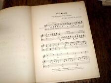 Ave Maria partition chant piano violoncelle 1900 marquis de Leuville signé