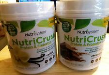 2 Nutrisystem NutriCrush Shake Mix Protein Probiotics Chocolate and Vanilla New