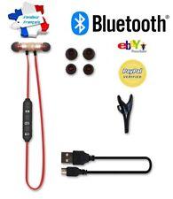 Bluetooth Ecouteurs Magnétique 4.1 Sans Fil Casque+câble usb+2 paires coussinets