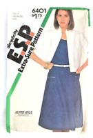 Vtg Sewing Pattern UNCUT 1980s Dress Jacket sz 16 18 20 Simplicity Extra Sure N4