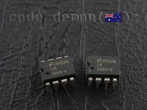 LM386N4 + LM386N3 LM386 DIP8 Audio Power Amplifiers IC (x2) - Arduino / AVR