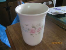 pfaltzgraff tea rose vase/utensil holder