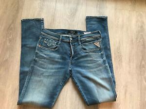 Replay Herren Jeans, 33/34, blau, Hyperflex, neuwertig!