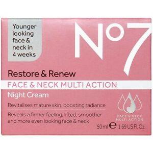 No7 Restore & Renew Face & Neck Multi-action Night Cream 1.69 Oz.