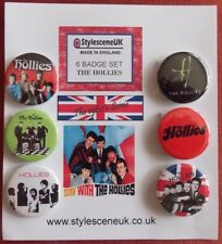 The Hollies 6 Collectors Button Badge Set. 60's Scene by StylesceneUK