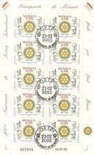 Briefmarkenbogen Monaco 10 x 55 Cent gestempelt 2005