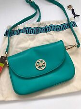 Tory Burch Turquoise Blue Leather Robinson Crossbody Messenger Bag 41129005 NWT