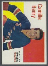 1960-61 Topps New York Rangers Hockey Card #53 Camille Henry