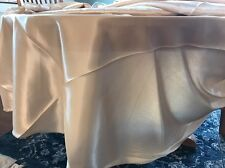 """108"""" inch Round SATIN Tablecloth WEDDING beige table cover USA SALE"""