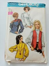 Simplicity Vintage Sewing Pattern - Vest Blouse - Size 12 -1960's - VPS076-8351