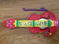 2001 Fisher Price 2-in-1 BACH 'N ROCK GUITAR VIOLIN MUSICAL INSTRUMENT BOW