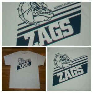 Gonzaga Bulldogs Womens Basketball Zags white t shirt L NEW nwot college sport