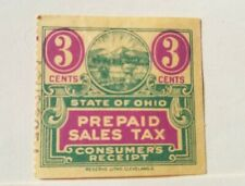 OHIO PREPAID SALES TAX 3 CENT YELLOW USED FREE SHIPPING!!!