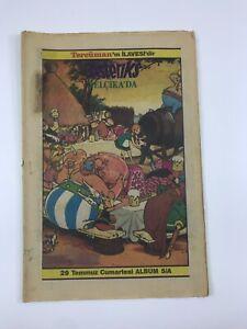 ASTERIX #5A Turkish Comic Book 1980s ULTRA RARE Asteriks TERCUMAN Rene Goscinny