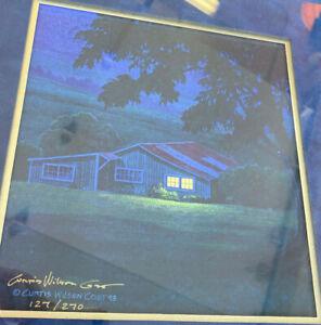 "Framed Print Pualani Evening Curt Wilson Cost COA 127/270 LE Hawaii 1993 13"""
