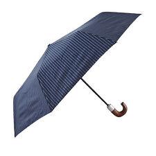 Fulton Chelsea-2 City Franja Auto Paraguas Plegable en Negro, Gris o Azul marino